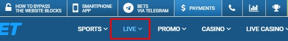 1xbet live betting